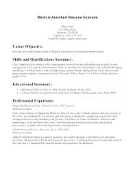 Example Of Medical Assistant Resume Professional Medical Assistant Resume Thrifdecorblog Com