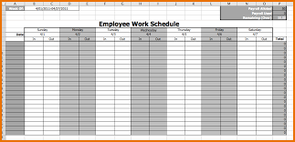 Work Schedule Calendar Template Calendar Employee Schedule Template Printable Schedule
