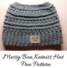 Free Crochet Pattern For Messy Bun Hat Amazing Mango Tree Crafts Messy Bun Hat Free Crochet Pattern In 48 Sizes