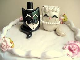 Cat Wedding Cake Topper Polymer Clay Kitty Cake Topper
