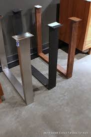 dining table legs. a pair dining table slab legs stainless steel flat iron or rust u shaped
