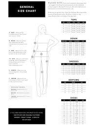 Measurements Size Chart Vici