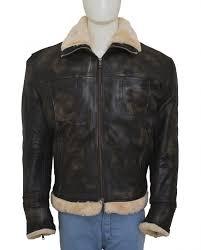 leather fur jacket vin