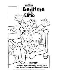 Small Picture Coloring Pages Elmo Bedtime Coloring Page Sesame Street Coloring