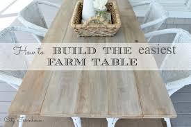 diy outdoor farmhouse table. How To Build The Easiest Farm Table City Farmhouse Diy Outdoor