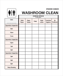 Cleaning Roster Template 6 Free Word Pdf Documents