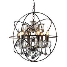 hannah 6 light rustic black chandelier