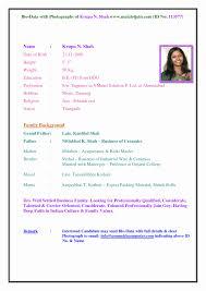 Sample Resume Format Word File Lovely Marriage Biodata Format In
