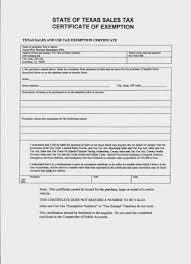 texas s and use tax exemption certification unique forms