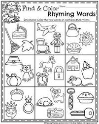 Small Picture Fun Back to School Kindergarten Worksheets Find and color the