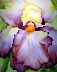 watercolor very pretty flower painting