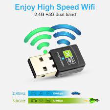 EASYIDEA 600Mbps USB Wifi Adapter Dual Band – Alat Penangkap Penerima Wifi  Komputer Laptop