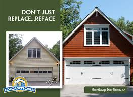 house with carriage garage doors remodel before and after pictures