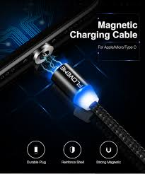 fdbro led magnetic charger cable micro usb type c usb c 2m 2a short usb charging cables magnet round plug designs