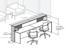 office desk size. Reception Desk Size - There Is A Little Significant Item Of Furniture, Which Includes Various Utilities In House. Office I