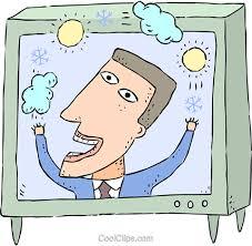 Image result for free clip art tv weatherman