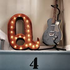 rusty 24 letter q marquee light 5