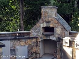 outdoor kitchen pizza oven design. outdoor wood fired pizza oven in westport, ct designed and installed by classic garden design kitchen