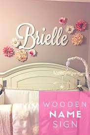 Baby Name Wall Designs Wooden Name Sign Baby Name Plaque Painted Nursery Name