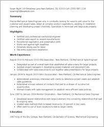 Resume Templates: Mechanical Sales Engineer