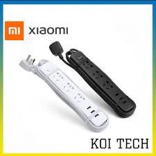 Ổ cắm điện Xiaomi Mi Power Strip 3 cổng 3 USB - ổ điện thông minh có ổn áp  tự ngắt điện chống cháy nổ - vienthonghn tốt giá rẻ