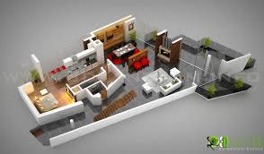 floor plan to 3d modern house