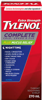 Tylenol Complete Cold Cough Flu Plus Mucus Relief Nighttime Syrup
