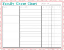 Family Chore Chart List Organising Your Familys Chores So That Things Get Done