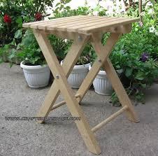 finished folding stool