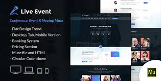 Muse Website Templates Awesome Live Event Conference And Meetup Muse Template By Webstrot
