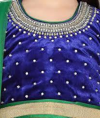 living room photos bddcf:  aarika blue blended lehenga saree for kids
