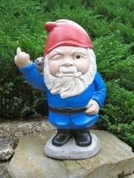 gnome g gnolan rude garden gnome cement concrete statue figure