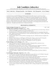 underwriter resume samples