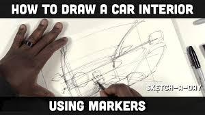 car interior sketch. Fine Car Intended Car Interior Sketch