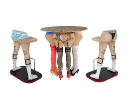table and bar stools. 2 x men\u0027s legs barstool \u0026 female butt table and bar stools