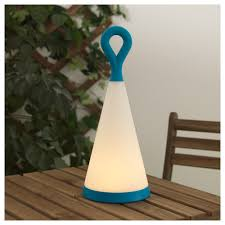 Solvinden Led Solar Powered Table Lamp Outdoor Triangle Bluewhite