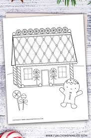 Coloring pages are fun for children of all ages and are a great educational tool that helps children develop fine motor skills, creativity and color recognition! Gingerbread House Coloring Pages Fun Loving Families