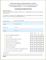 Customer Feedback Form Magnificent Event Feedback Form Template Word Buildingcontractorco