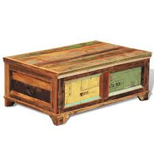 large solid wooden chest trunk storage box coffee table