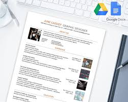 Creative Resume Template For Google Docs Google Drive Microsoft Word Docx
