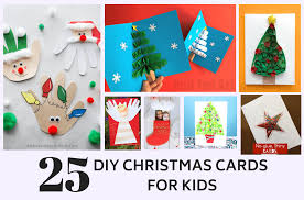 25 Cute Homemade Christmas Card Ideas For Kids Crafts By Ria