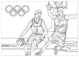Jeux Olympiques Basketball Sport Jeux Olympiques Coloriages
