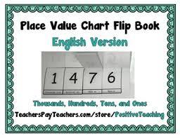 Place Value Chart Flip Book English Thousands Hundreds