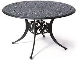 cau by hanamint luxury cast aluminum patio furniture 48 round dining table