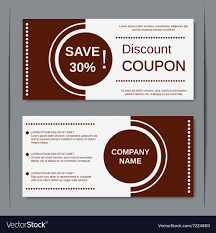 Personal Training Gift Certificate Template Discount Coupon Design Template Royalty Free Vector Image 12