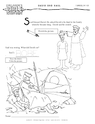 David and saul (1 samuel 24). King Saul And David In Cave Coloring Pages Coloring Home