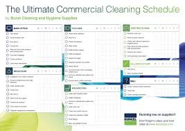 Commercial Cleaning Schedule Template Bunzl Cleaning Hygiene