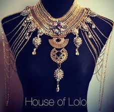 indian bollywood style shoulder cape jewellery statement necklace