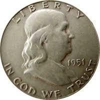 1951 Ben Franklin Half Dollar Value Cointrackers