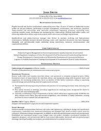 Supervisor Resume Sample Free Resume Template Maintenance Manager Resume Samples Kairo 9terrains